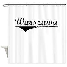 Warszawa, Aged, Shower Curtain