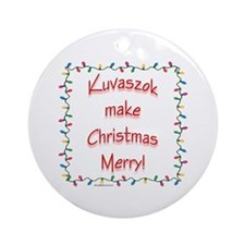 Merry Kuvasz Ornament (Round)