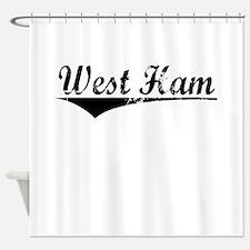 West Ham, Aged, Shower Curtain