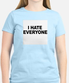 I hate everyone -  Women's Pink T-Shirt