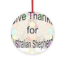 Thanks for Aussie Ornament (Round)