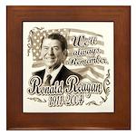 Ronald Reagan Tribute Framed Tile