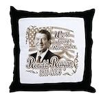 Ronald Reagan Tribute Throw Pillow