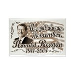 Ronald Reagan Tribute Rectangle Magnet