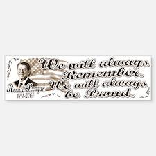 Ronald Reagan Tribute Bumper Bumper Bumper Sticker