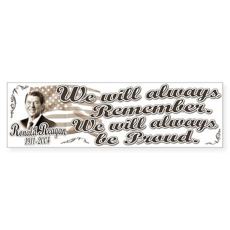 Ronald Reagan Tribute Bumper Sticker