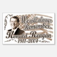 Ronald Reagan Tribute Rectangle Decal