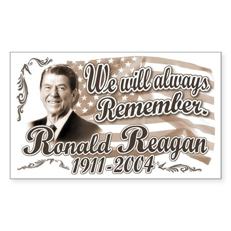 Ronald Reagan Tribute Rectangle Sticker