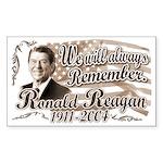 Ronald Reagan Tribute Rectangle Sticker