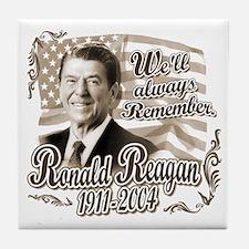 Ronald Reagan Tribute Tile Coaster