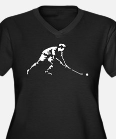 Hockey 11-2012 A 1c.png Women's Plus Size V-Neck D