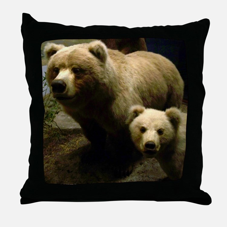Momma Bear and Cub (Throw Pillow)