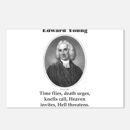 Time Flies Death Urges - Edward Young Postcards (P
