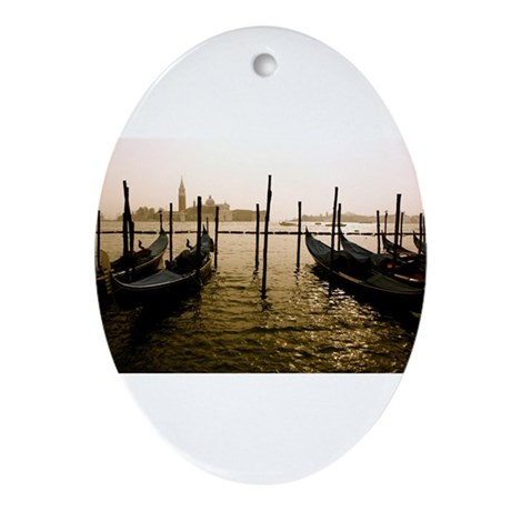 Gondola Venice Italy Ornament (Oval)