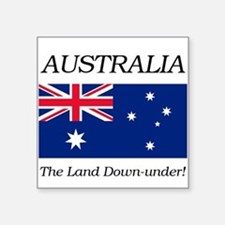"Australian Flag Square Sticker 3"" x 3"""