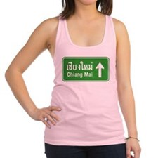 Chiang Mai Thailand Traffic Sign Racerback Tank To