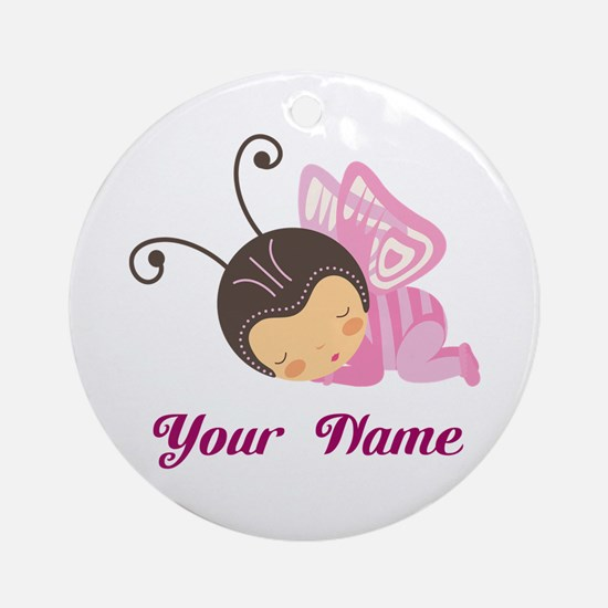 Personalized Butterfly Ornament (Round)