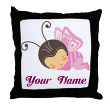 Personalized Butterfly Throw Pillow