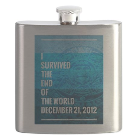 I Survived The End of The World Flask