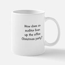 Auditing Funny Office Christmas Joke Mug