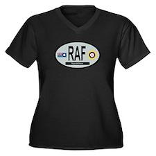RAF - WW2 Women's Plus Size V-Neck Dark T-Shirt