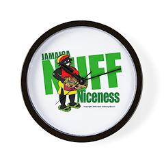Jamaica Nuff Niceness Wall Clock