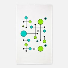 Lime & Teal Dot Dash 3'x5' Area Rug
