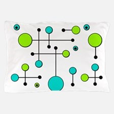 Lime & Teal Dot Dash Pillow Case