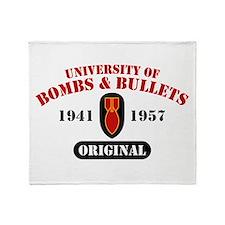 U of Bombs Bullets 1941 Throw Blanket