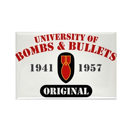 U of Bombs Bullets 1941 Rectangle Magnet