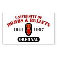 U of Bombs Bullets 1941 Decal