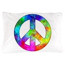 Retro tie-dyed peace sign Pillow Case