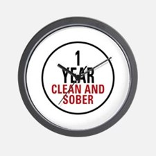 1 Year Clean & Sober Wall Clock