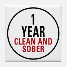 1 Year Clean & Sober Tile Coaster