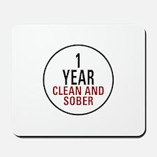 1 Year Clean & Sober Mousepad