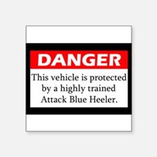 Attack Blue Heeler Sticker