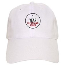 1 Year Clean & Sober Baseball Cap