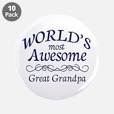 "Great Grandpa 3.5"" Button (10 pack)"
