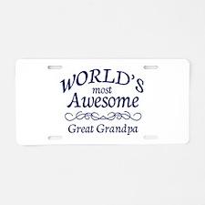 Great Grandpa Aluminum License Plate