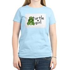 turtle girl Women's Pink T-Shirt
