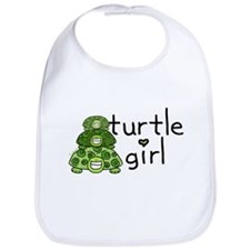 turtle girl Bib