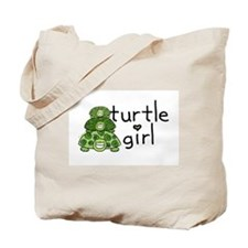turtle girl Tote Bag