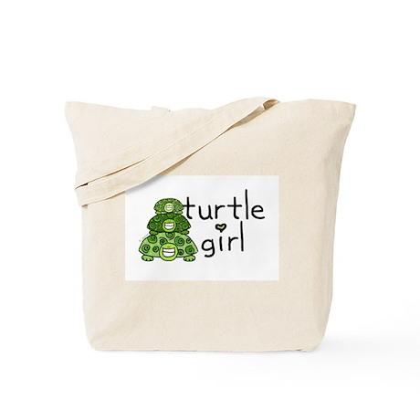 turtle girl Tote Bag