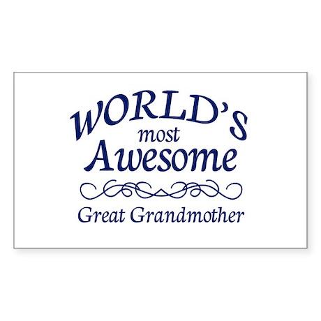 Great Grandmother Sticker (Rectangle)