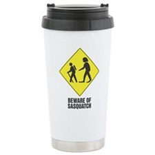 Cute Beware of sasquatch Travel Mug