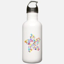 White Star Flower Water Bottle