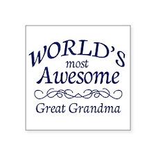 """Great Grandma Square Sticker 3"""" x 3"""""""