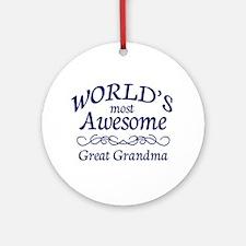 Great Grandma Ornament (Round)