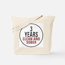 3 Years Clean & Sober Tote Bag