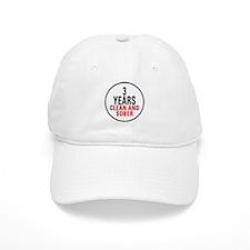 3 Years Clean & Sober Baseball Cap